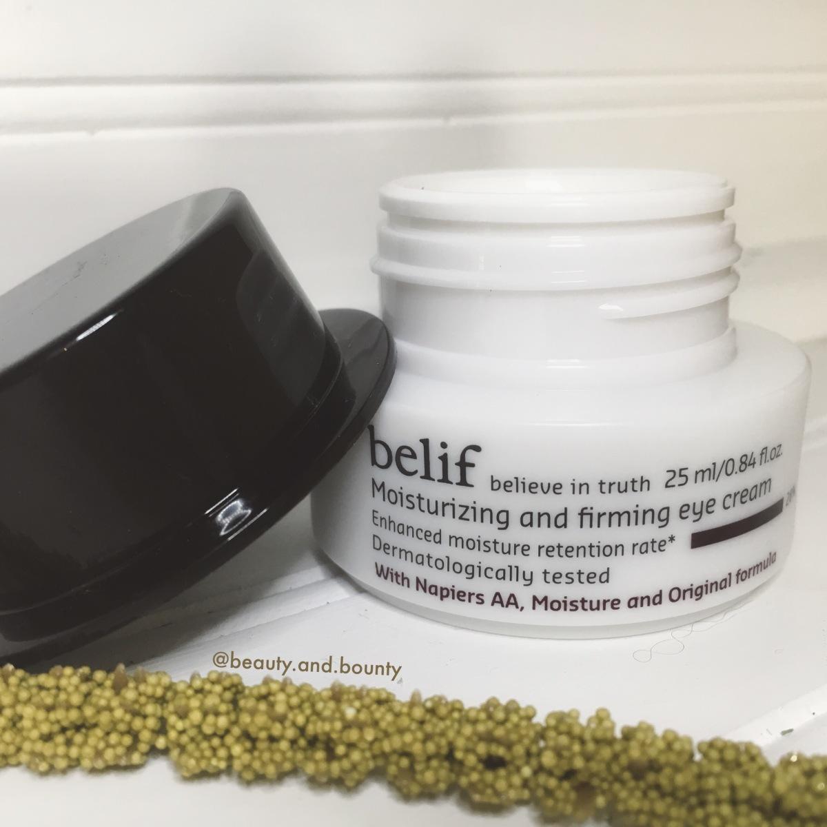 belif – Moisturizing & Firming Eye Cream –Review